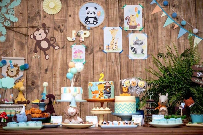 Dessert table from an Adventurous Animal Birthday Party on Kara's Party Ideas | KarasPartyIdeas.com (6)