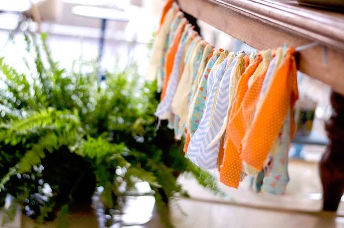Fabric strip tassel garland from an Adventurous Animal Birthday Party on Kara's Party Ideas | KarasPartyIdeas.com (5)