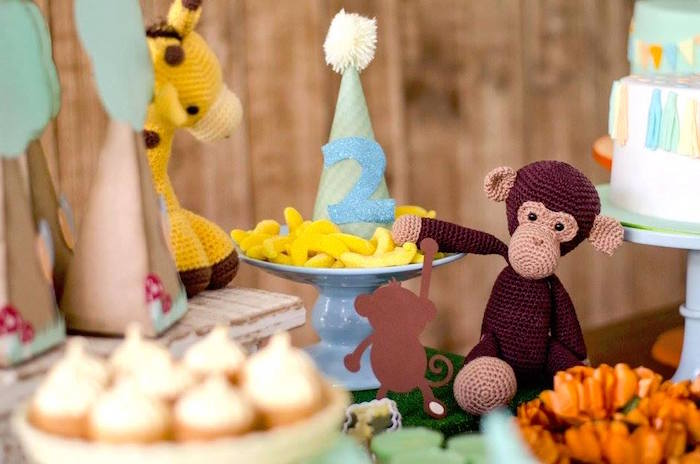 Monkey treats from an Adventurous Animal Birthday Party on Kara's Party Ideas | KarasPartyIdeas.com (29)