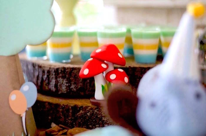 Toadstools and dessert cups from an Adventurous Animal Birthday Party on Kara's Party Ideas | KarasPartyIdeas.com (22)