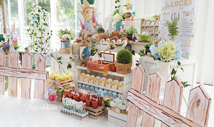 Beatrix Potter Peter Rabbit Birthday Party on Kara's Party Ideas | KarasPartyIdeas.com (12)
