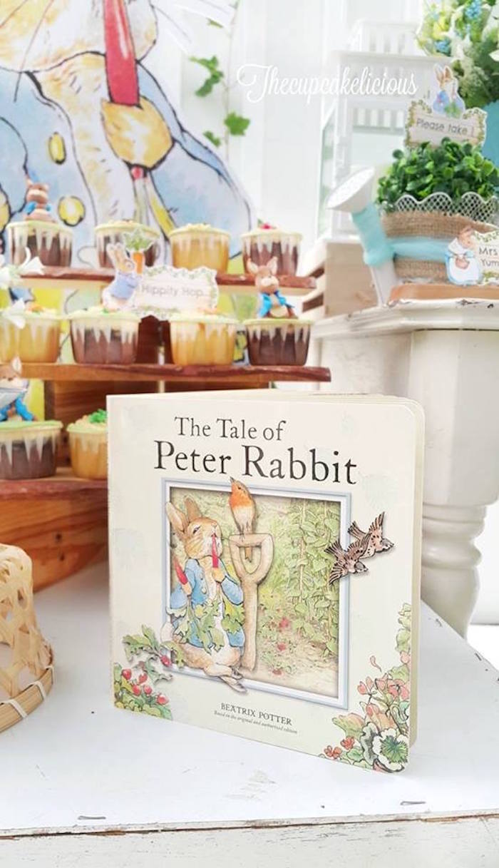 The Tale of Peter Rabbit Book from a Beatrix Potter Peter Rabbit Birthday Party on Kara's Party Ideas | KarasPartyIdeas.com (10)