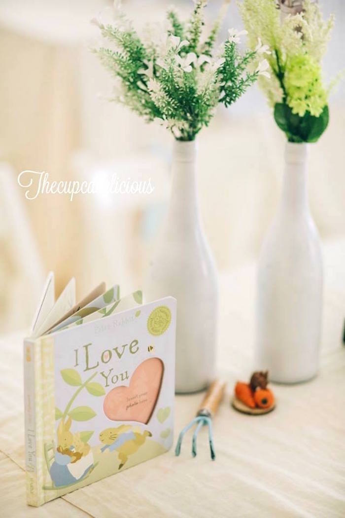 Garden vase centerpieces from a Beatrix Potter Peter Rabbit Birthday Party on Kara's Party Ideas | KarasPartyIdeas.com (8)