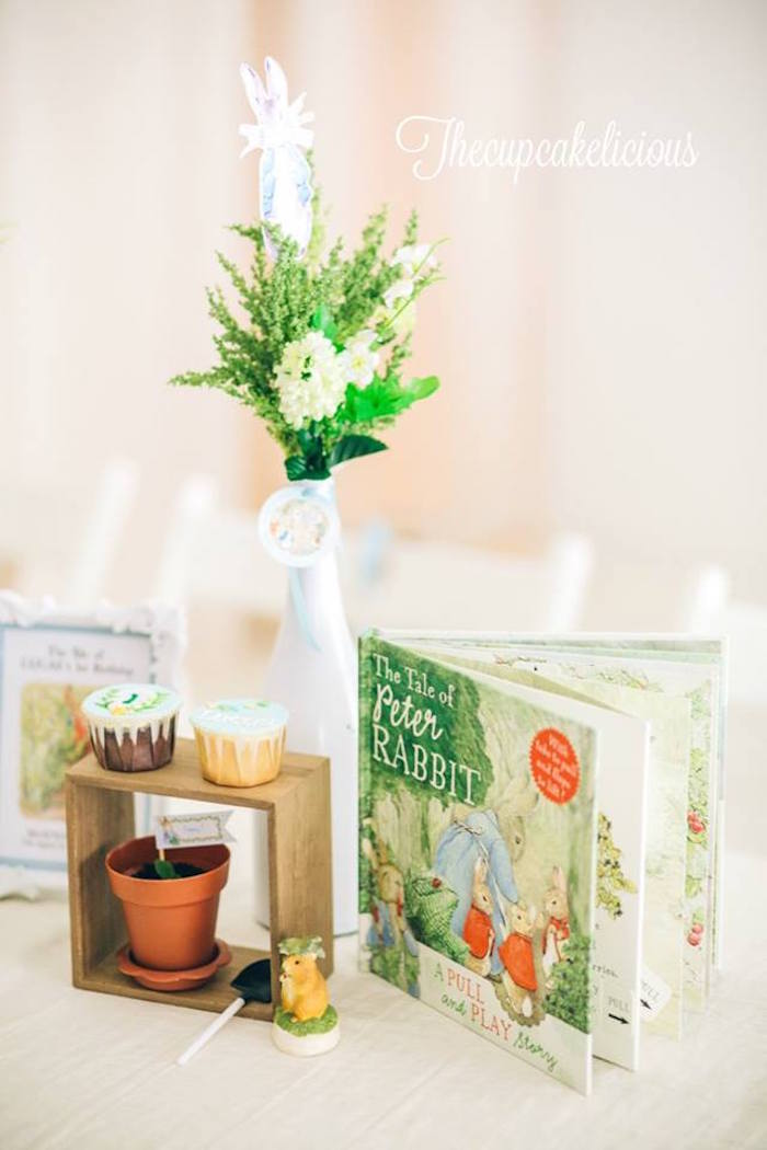 Decor from a Beatrix Potter Peter Rabbit Birthday Party on Kara's Party Ideas | KarasPartyIdeas.com (6)