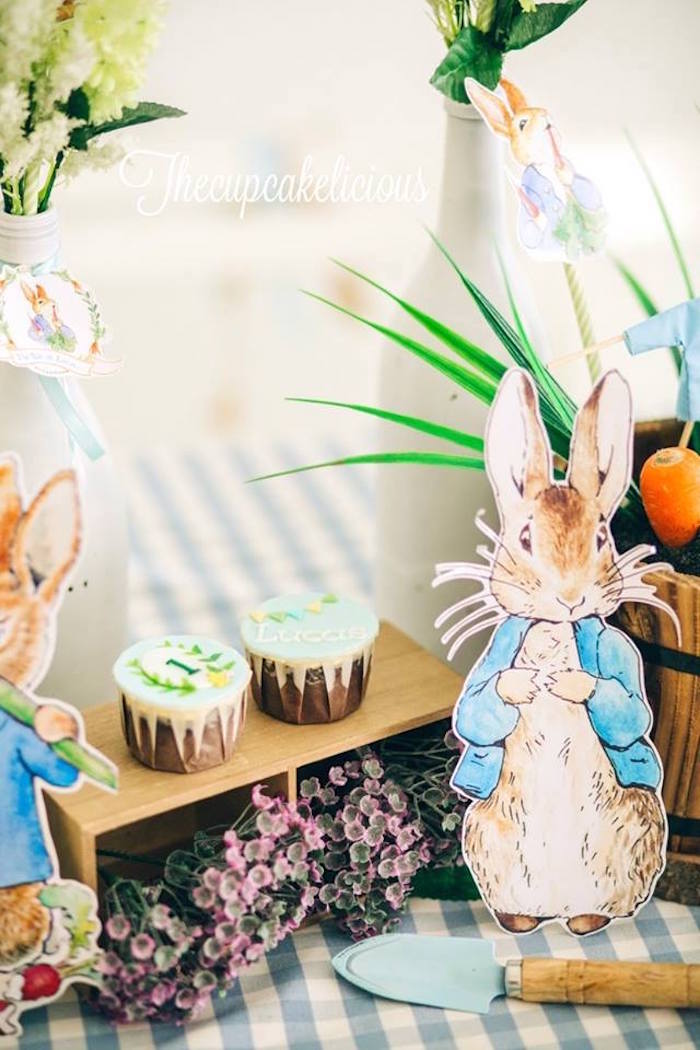 Decor from a Beatrix Potter Peter Rabbit Birthday Party on Kara's Party Ideas | KarasPartyIdeas.com (5)