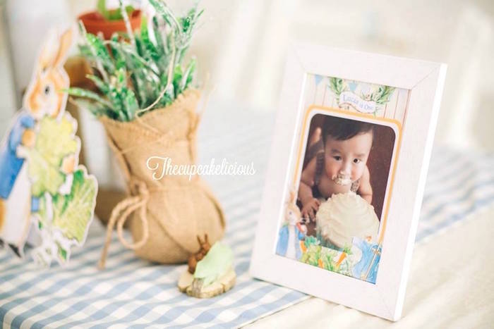 Centerpieces + decor from a Beatrix Potter Peter Rabbit Birthday Party on Kara's Party Ideas | KarasPartyIdeas.com (25)