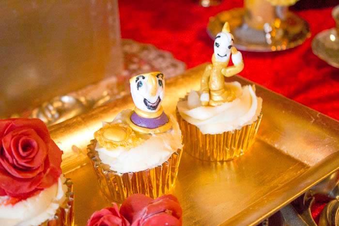 Beauty & the Beast Cupcakes from a Beauty and the Beast 1st Birthday Party on Kara's Party Ideas | KarasPartyIdeas.com (11)