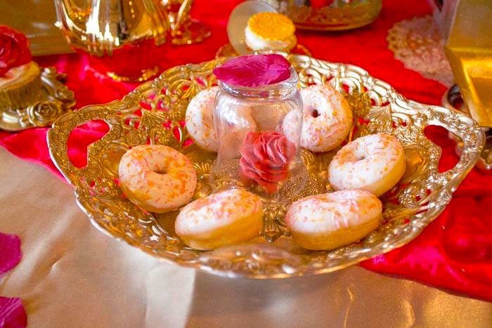 Doughnuts from a Beauty and the Beast 1st Birthday Party on Kara's Party Ideas | KarasPartyIdeas.com (20)