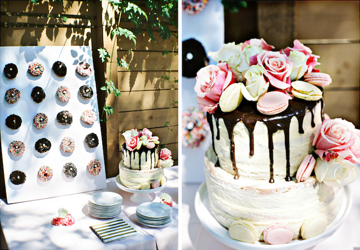 Cake and dessert table from a Bohemian Dreams Baby Shower on Kara's Party Ideas | KarasPartyIdeas.com (12)