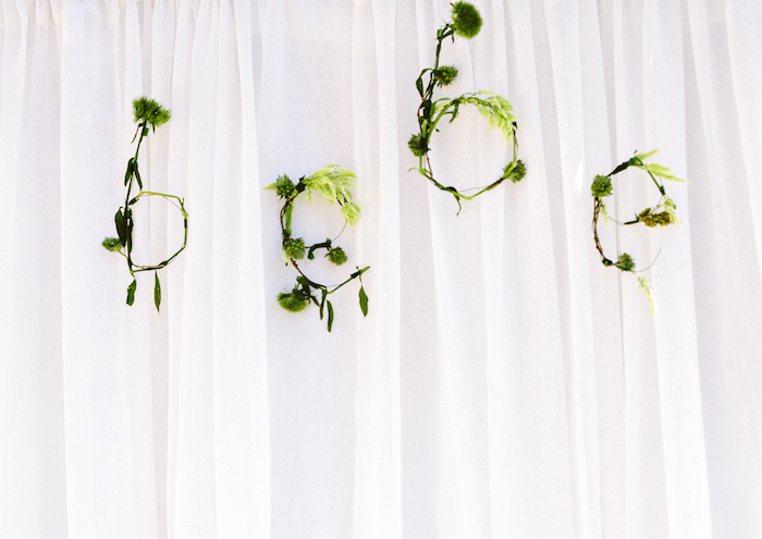 Greenery lettering from a Bohemian Dreams Baby Shower on Kara's Party Ideas | KarasPartyIdeas.com (20)