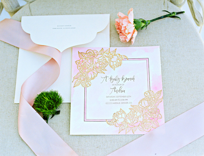 Boho party invitation from a Bohemian Dreams Baby Shower on Kara's Party Ideas | KarasPartyIdeas.com (19)