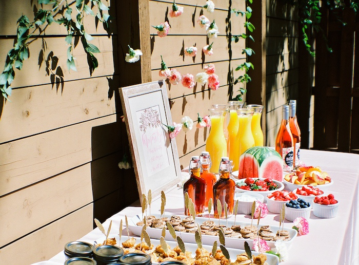 Boho beverage & food table from a Bohemian Dreams Baby Shower on Kara's Party Ideas | KarasPartyIdeas.com (15)