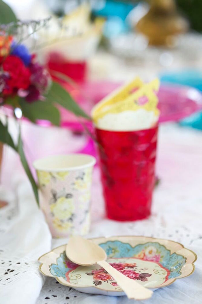 Partyware from a Bohemian Sleepover Birthday Party on Kara's Party Ideas | KarasPartyIdeas.com (18)