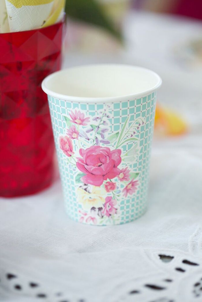 Paper cup from a Bohemian Sleepover Birthday Party on Kara's Party Ideas | KarasPartyIdeas.com (17)