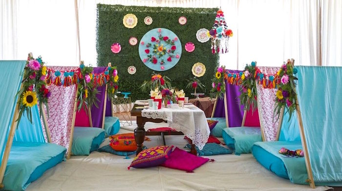 Bohemian Sleepover Birthday Party on Kara's Party Ideas | KarasPartyIdeas.com (16)
