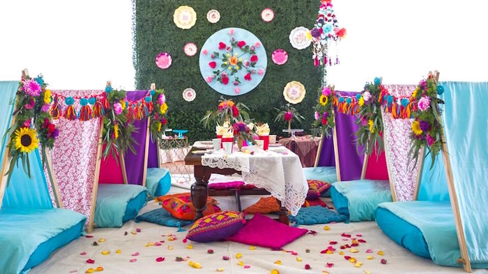 Bohemian Sleepover Birthday Party on Kara's Party Ideas | KarasPartyIdeas.com (14)