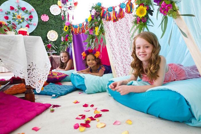 Boho teepees from a Bohemian Sleepover Birthday Party on Kara's Party Ideas | KarasPartyIdeas.com (11)