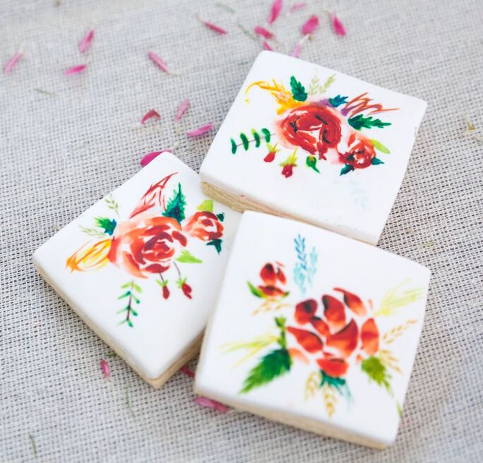 Floral boho cookies from a Bohemian Sleepover Birthday Party on Kara's Party Ideas | KarasPartyIdeas.com (7)
