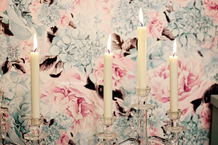 Candles from a Breakfast at Tiffany's Inspired Bridal Shower on Kara's Party Ideas   KarasPartyIdeas.com (22)