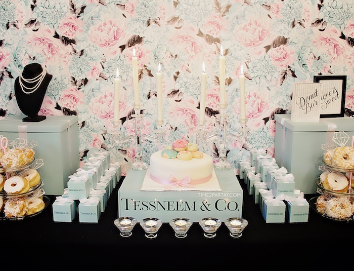 cakescape from a breakfast at tiffanys inspired bridal shower on karas party ideas karaspartyideas