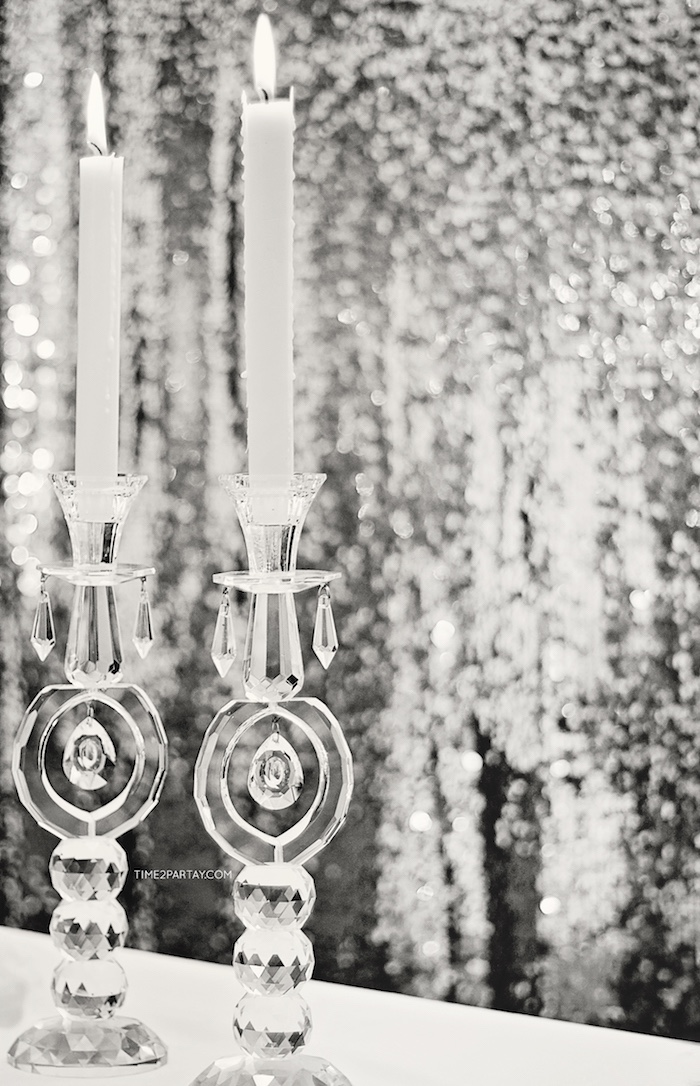Crystal candlesticks from a Breakfast at Tiffany's Inspired Bridal Shower on Kara's Party Ideas | KarasPartyIdeas.com (9)