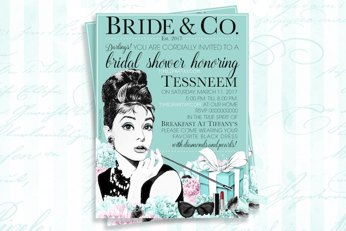 Invitation from a Breakfast at Tiffany's Inspired Bridal Shower on Kara's Party Ideas | KarasPartyIdeas.com (7)
