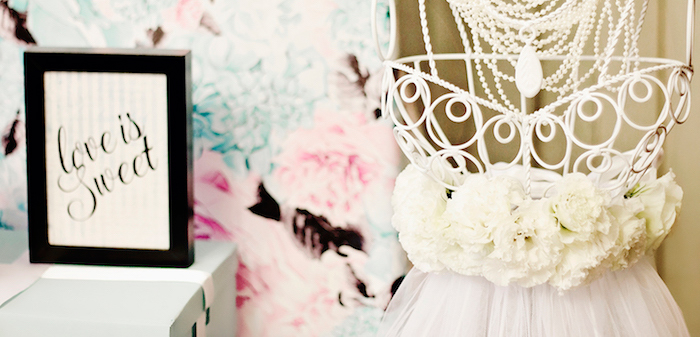 Breakfast at Tiffany's Inspired Bridal Shower on Kara's Party Ideas | KarasPartyIdeas.com (1)
