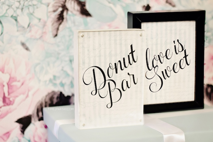 Party signage from a Breakfast at Tiffany's Inspired Bridal Shower on Kara's Party Ideas | KarasPartyIdeas.com (33)
