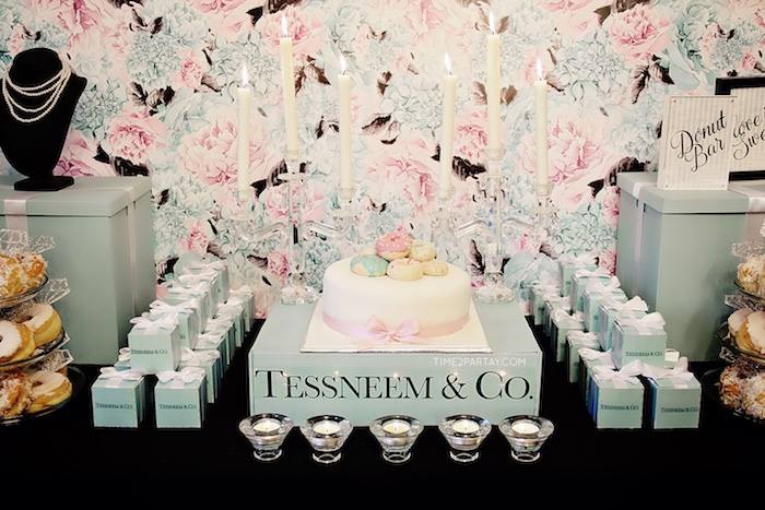 Cakescape from a Breakfast at Tiffany's Inspired Bridal Shower on Kara's Party Ideas | KarasPartyIdeas.com (31)