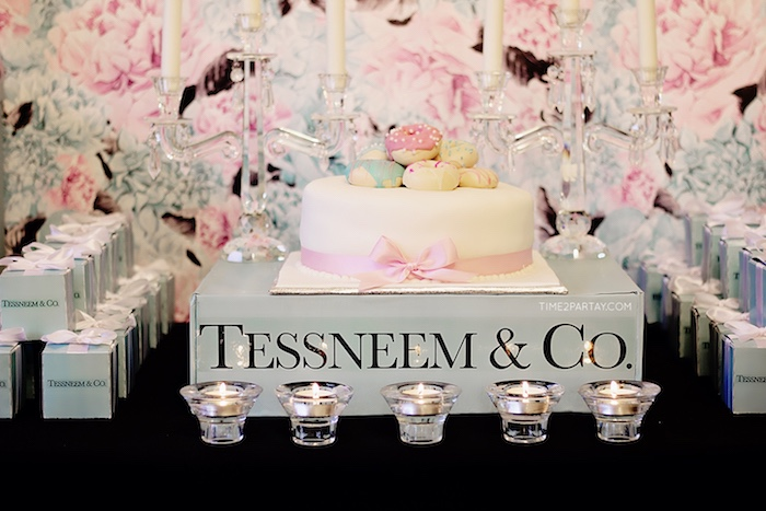 Cakescape from a Breakfast at Tiffany's Inspired Bridal Shower on Kara's Party Ideas | KarasPartyIdeas.com (29)