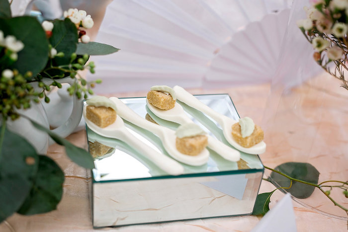 Japanese Garden Wedding Theme Table Settings