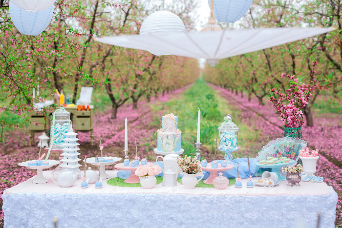 bridal shower garden tea party