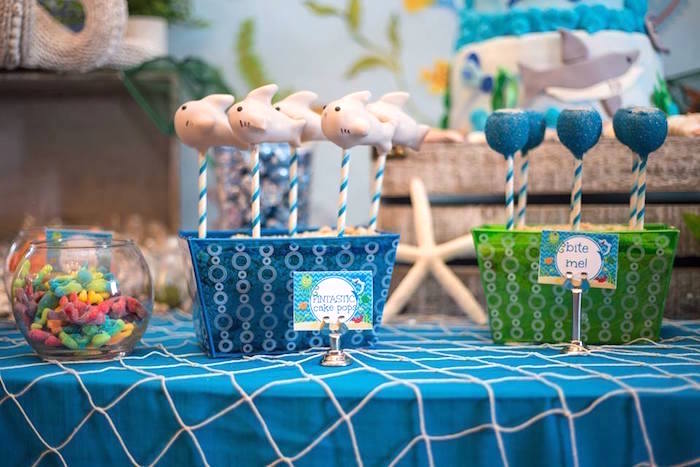 Cake pops from a Bubbly Under the Sea Birthday Party on Kara's Party Ideas | KarasPartyIdeas.com (23)