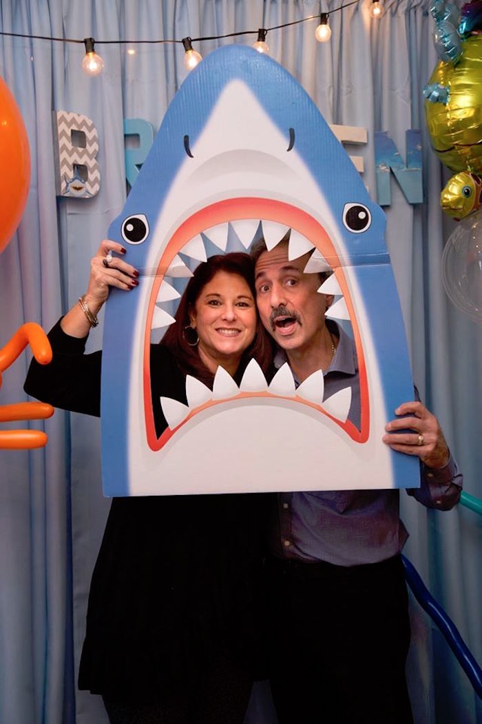 Photo booth fun from a Bubbly Under the Sea Birthday Party on Kara's Party Ideas | KarasPartyIdeas.com (8)