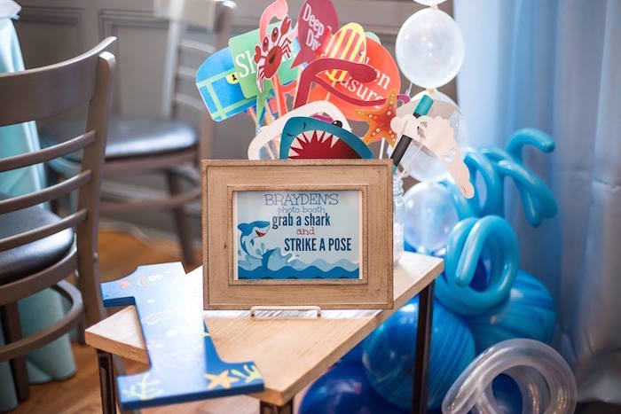 Photo booth props from a Bubbly Under the Sea Birthday Party on Kara's Party Ideas | KarasPartyIdeas.com (33)