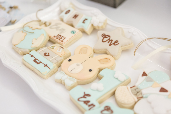 Cookies from a Bunny Hot Air Balloon Birthday Party on Kara's Party Ideas | KarasPartyIdeas.com (35)