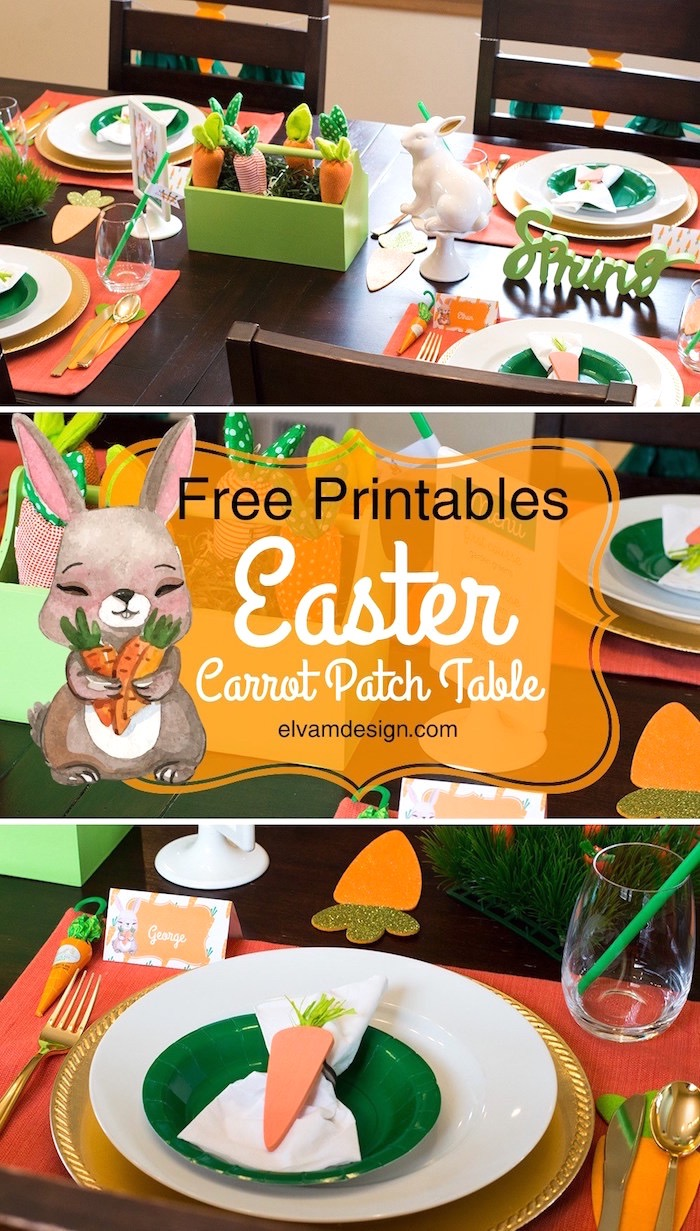 Carrot Patch Easter Party with FREE Printables on Kara's Party Ideas | KarasPartyIdeas.com (2)