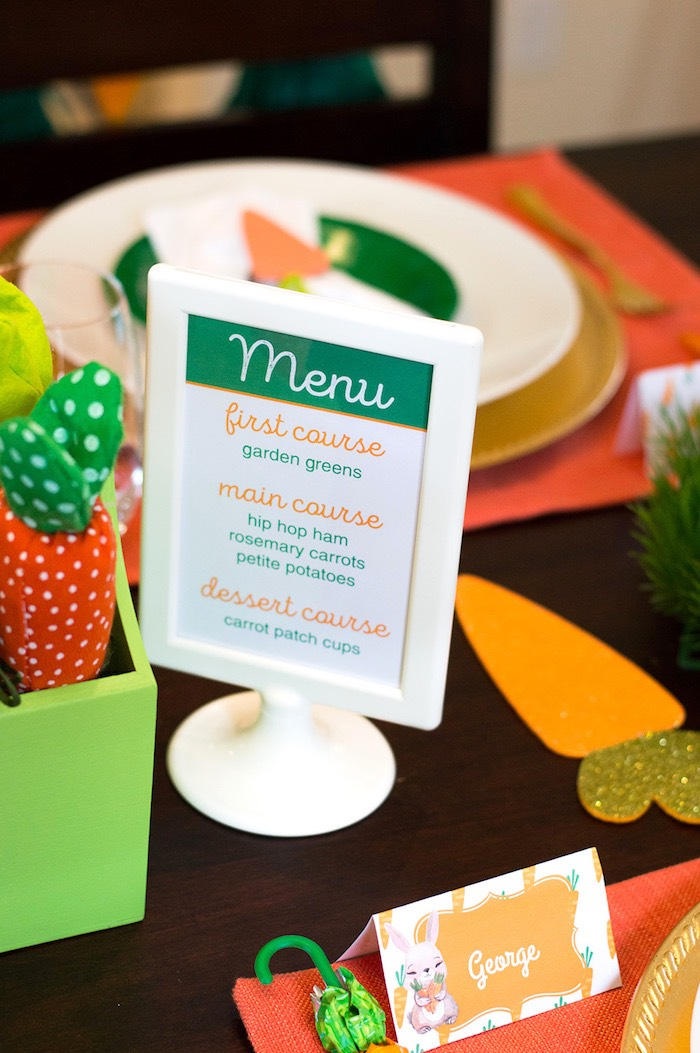 Menu from a Carrot Patch Easter Party with FREE Printables on Kara's Party Ideas | KarasPartyIdeas.com (19)