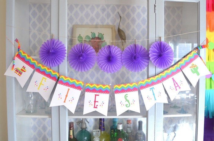 Banner from a Colorful Fiesta Birthday Party on Kara's Party Ideas | KarasPartyIdeas.com (18)
