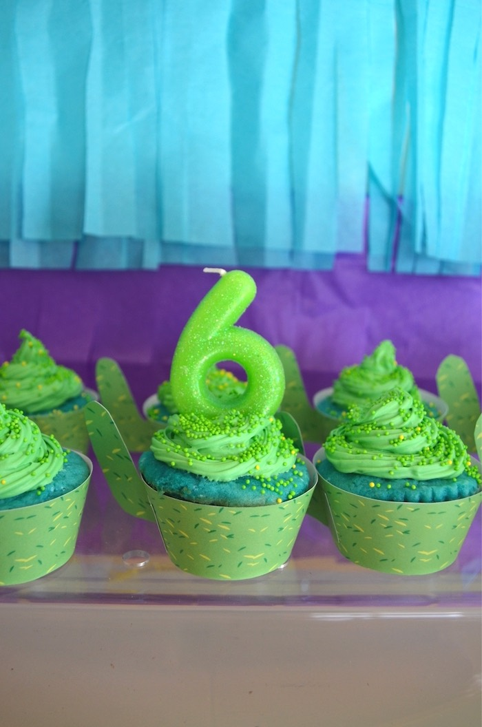 Cactus cupcakes from a Colorful Fiesta Birthday Party on Kara's Party Ideas | KarasPartyIdeas.com (27)