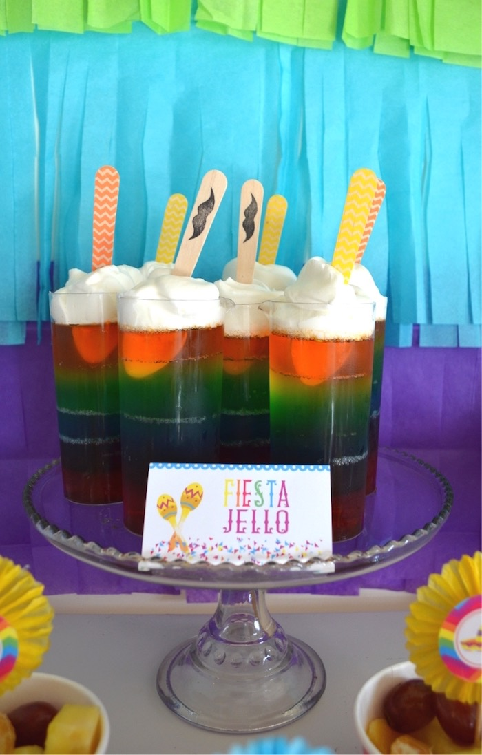 Fiesta Jello from a Colorful Fiesta Birthday Party on Kara's Party Ideas | KarasPartyIdeas.com (25)