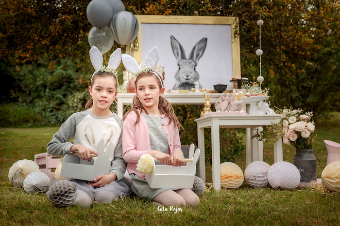 Bunny ears from a Countryside Bunny Party via Kara's Party Ideas | KarasPartyIdeas.com (13)