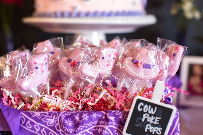 Cow Poke Pops from a Cowgirl Birthday Party Roundup on Kara's Party Ideas | KarasPartyIdeas.com (25)