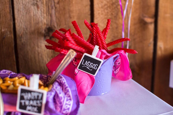 Lasso licorice from a Cowgirl Birthday Party Roundup on Kara's Party Ideas | KarasPartyIdeas.com (22)