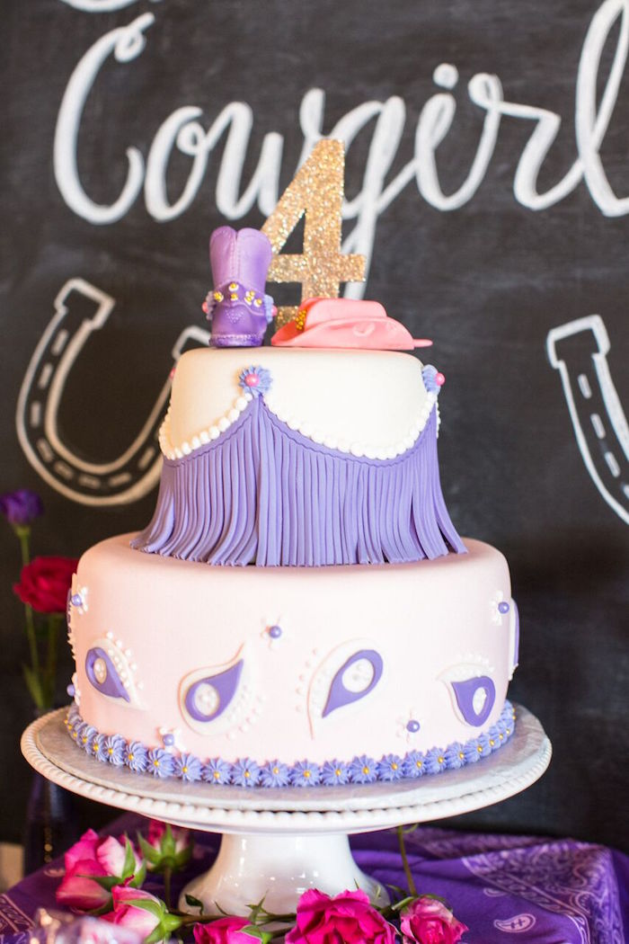Cowgirl Cake from a Cowgirl Birthday Party Roundup on Kara's Party Ideas | KarasPartyIdeas.com (21)