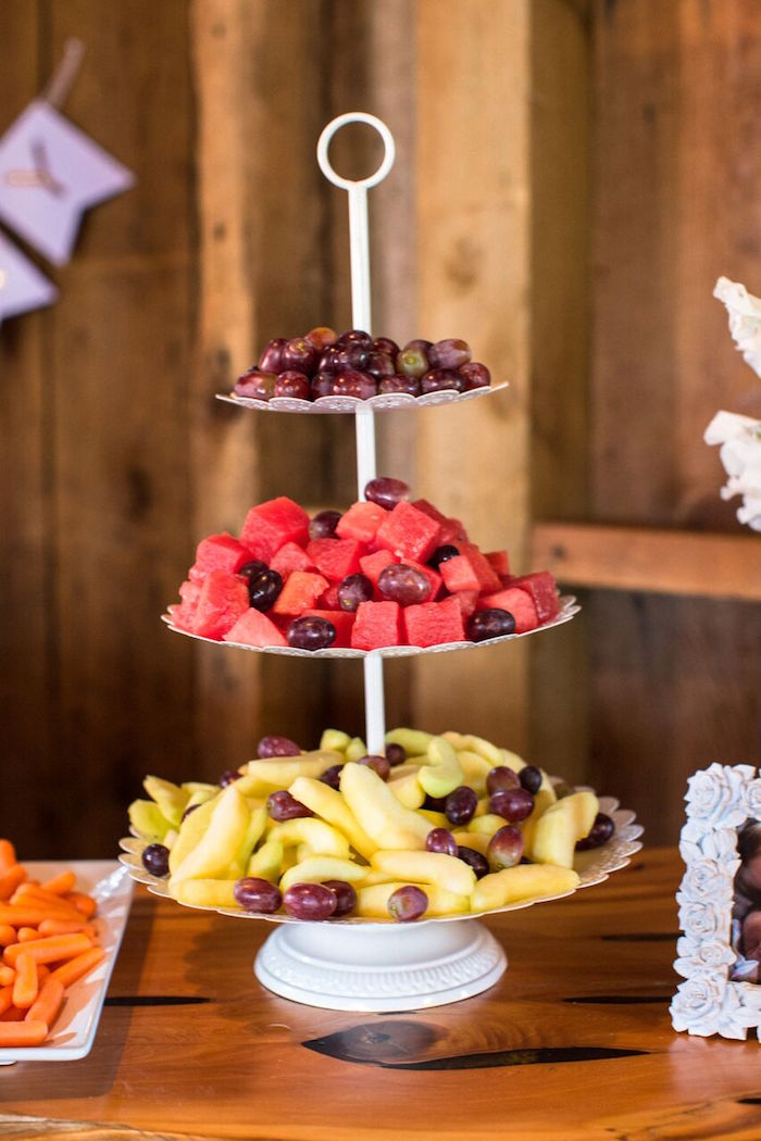 Fruit platter from a Cowgirl Birthday Party Roundup on Kara's Party Ideas | KarasPartyIdeas.com (18)