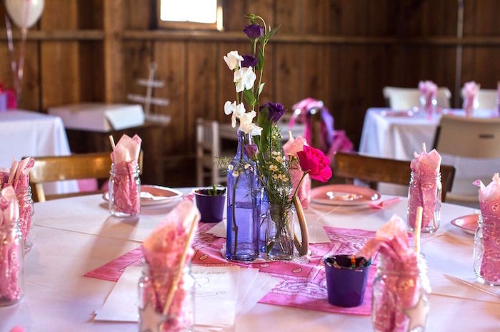 Guest table from a Cowgirl Birthday Party Roundup on Kara's Party Ideas | KarasPartyIdeas.com (16)