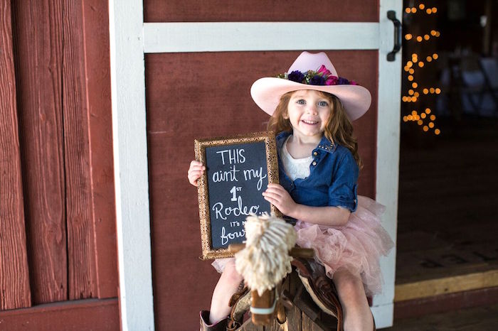 Photo op from a Cowgirl Birthday Party Roundup on Kara's Party Ideas | KarasPartyIdeas.com (7)