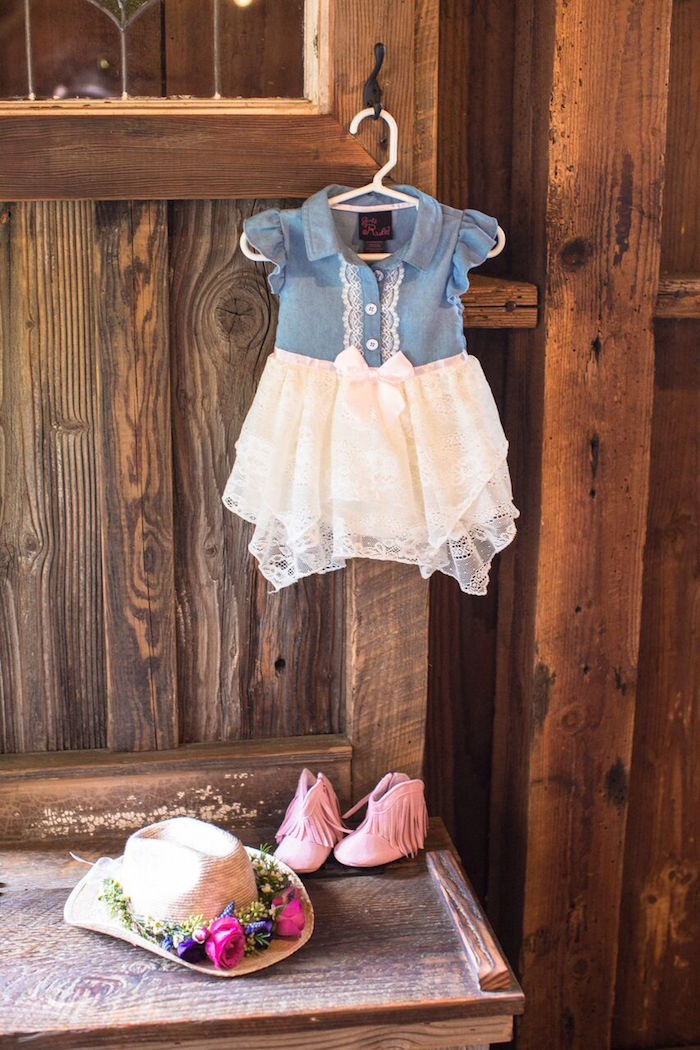 Little cowgirl outfit from a Cowgirl Birthday Party Roundup on Kara's Party Ideas | KarasPartyIdeas.com (33)