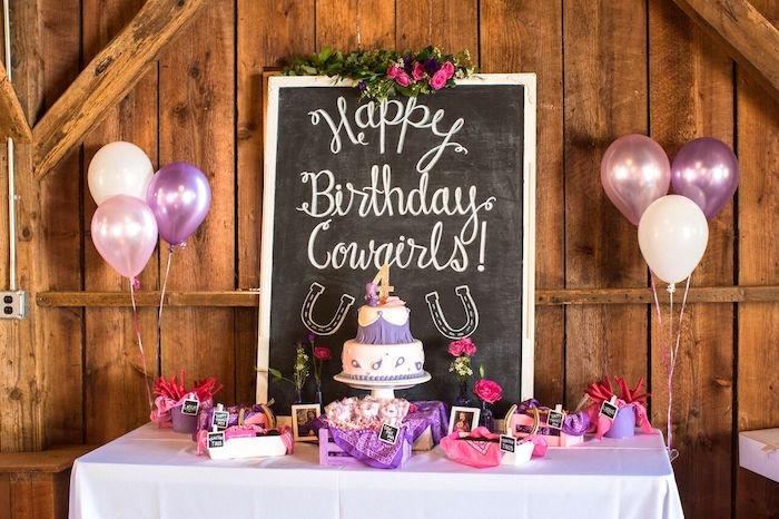 Kara S Party Ideas Cowgirl Birthday Party Roundup Kara S
